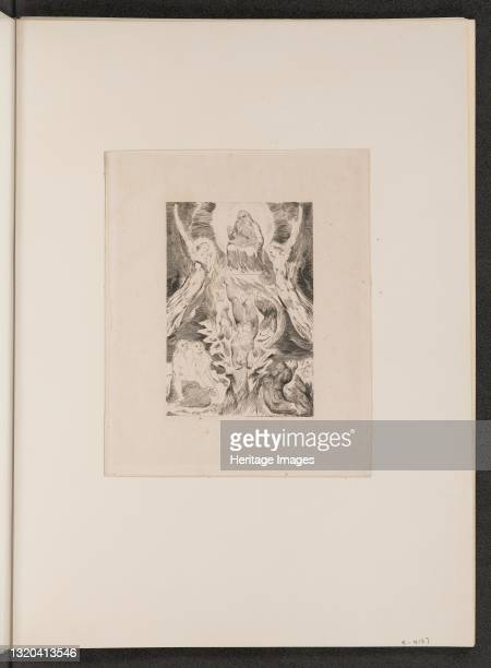 The Fall of Satan, 1825. Artist William Blake.