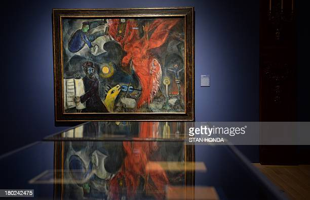 ROLANDO The Fall Of Angel 19233347 By Artist Marc Chagall On Display At