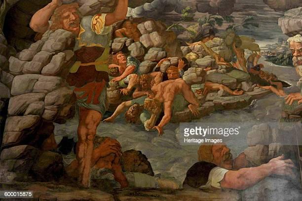 The Fall of the Giants 1536 Found in the collection of Palazzo del Te Mantua Artist Romano Giulio