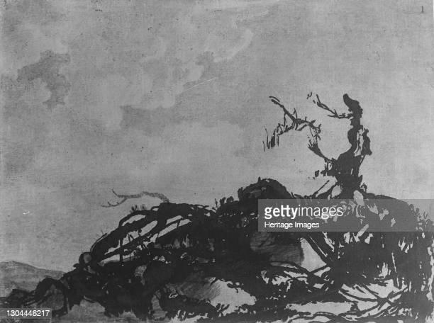 The Fallen Tree, circa 1785. Artist Alexander Cozens.