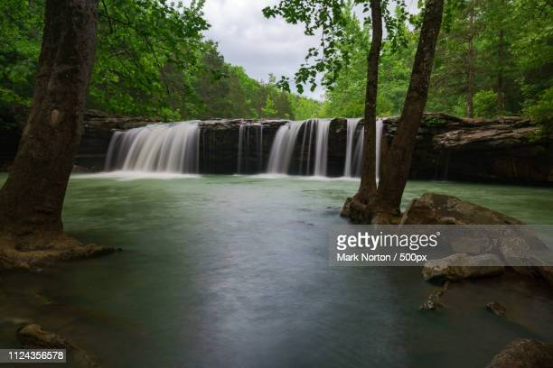 the falls after the rain - ozark mountains stock pictures, royalty-free photos & images