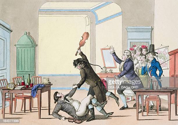 The false virtuoso satirical scene about Niccolo Paganini Italian violinist composer and guitarist Vienna Historisches Museum Der Stadt Wien