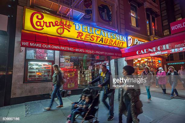 The famed Carnegie Deli in Midtown in New York on Tuesday, April 28, 2015. Since being closed since April 2015 the world renowned restaurant will...