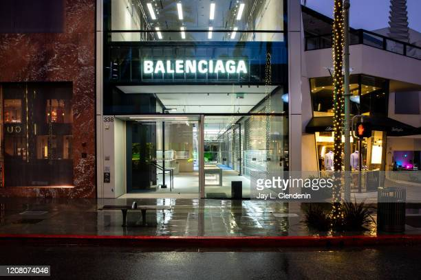 The famed Rodeo Drive in the heart of Beverly Hills CA is quiet and empty where one of the worlds biggest fashion brands Balenciaga cleared out their...