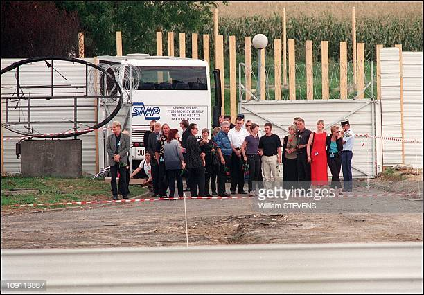 The Families Of German Concorde Crash Victims Mourn At The Scene Of The Accident On August 26Th 2000 In Gonesse France