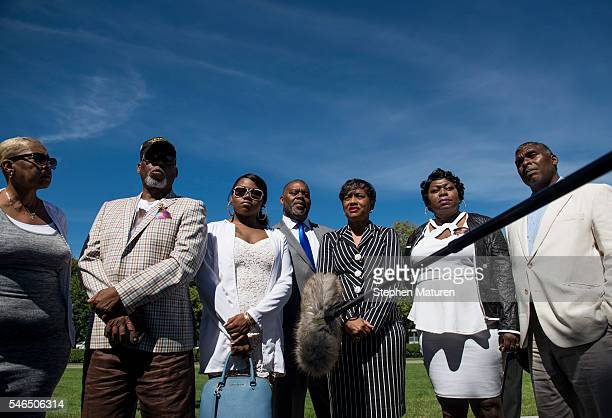 The family and attorney of Philando Castile speak to MSNBC after a press conference on July 12 2016 in St Paul Minnesota Judge Glenda Hatchett former...