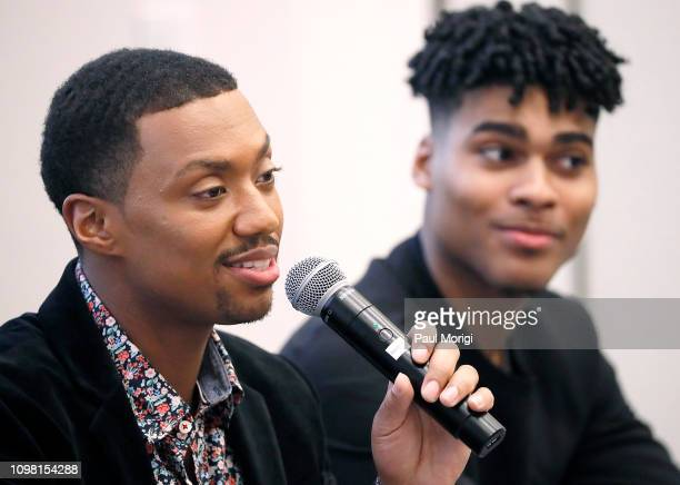 """""""The Family Business"""" actor Arrington Foster and actor Emery Lavell Johnson speak at the Advanced Cooperative Communication Empowerment for People of..."""