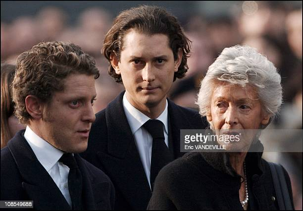 The family Marella Agnelli Giovanni's widow with Lapo Elkann and John Philipp Elkann the new heir in Turin Italy on January 26th 2003