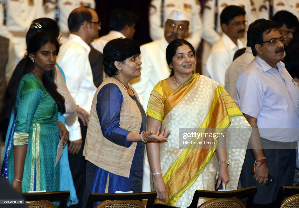 The family members of M Venkaiah Naidu during the 13th VicePresident of India sworn ceremony by M Venkaiah Naidu at Darbar Hall Rashtrapati Bhawan on.