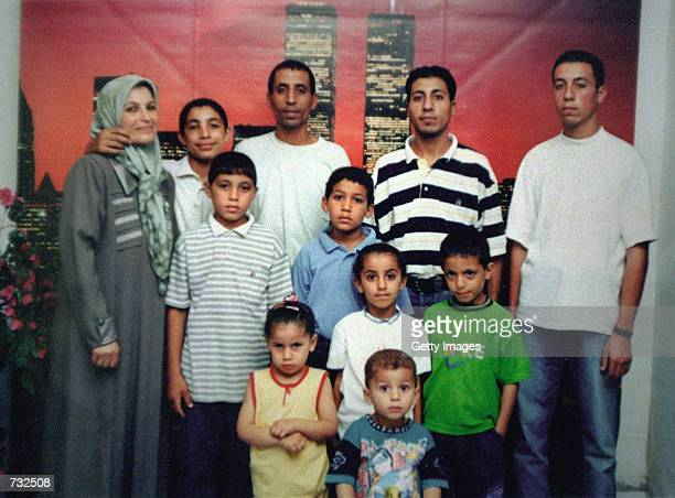 The family of 12 yearold Palestinian boy Mohammed Dura center in blue shirt poses in a family photo at their home in the Gaza Strip Mohammed's death...