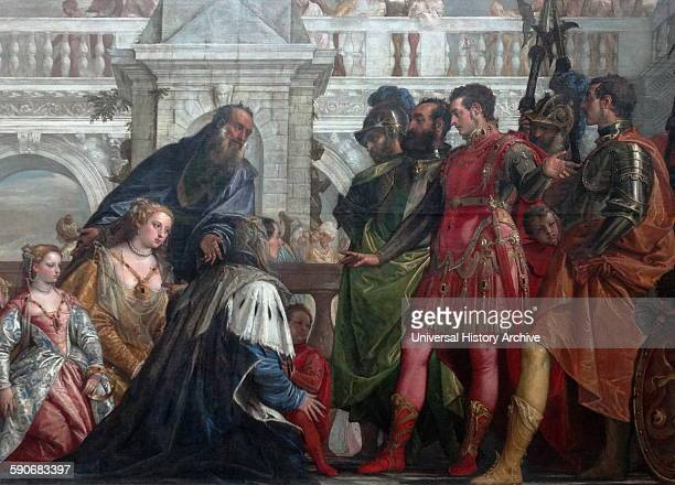 The Family of Darius before Alexander. 1565–1570. Oil on canvas, painting by Paolo Veronese. The painting shows Alexander the Great with the family...