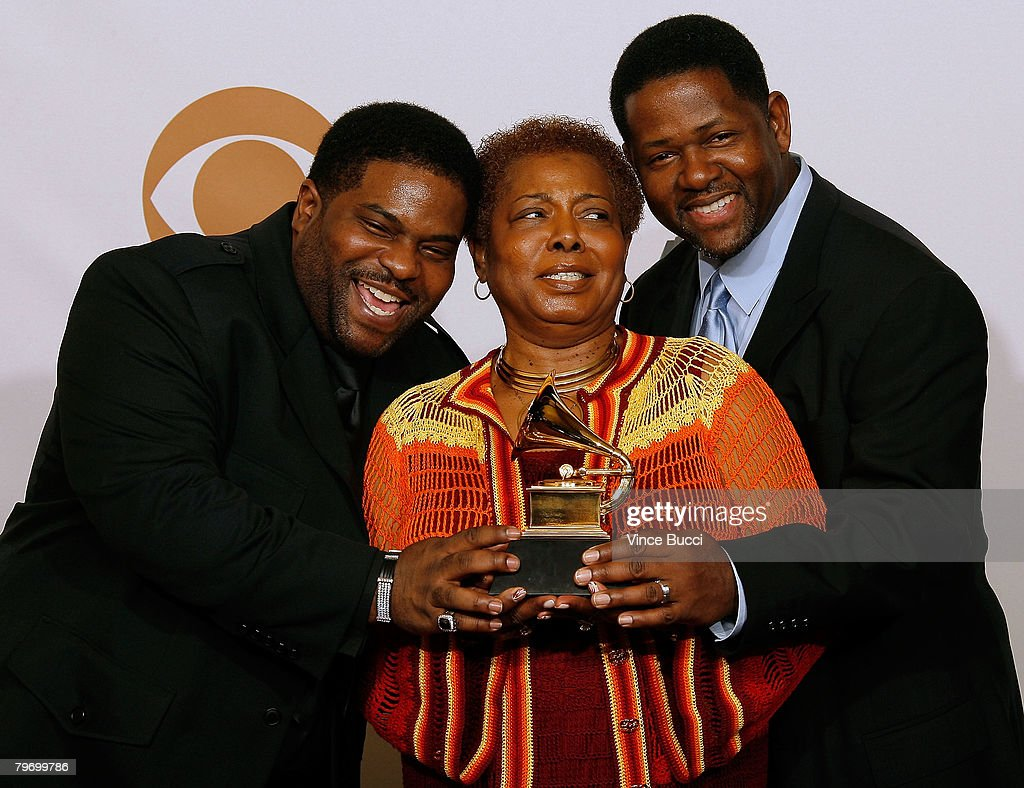 Gerald Levert Songs with 50th annual grammy awards - pre-telecast press room pictures