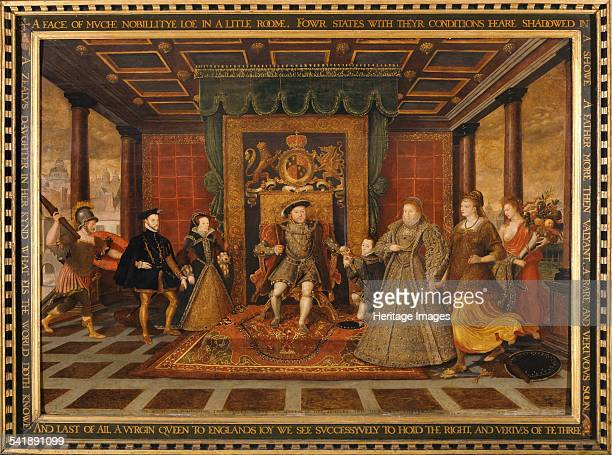 An Allegory of the Tudor Succession' 1572 Artist King Henry Viii Lucas De Heere
