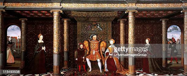 The Family of Henry VIII An Allegory of the Tudor Succession Oil on panel Henry VIII was King of England from 21 April 1509 until his death He was...