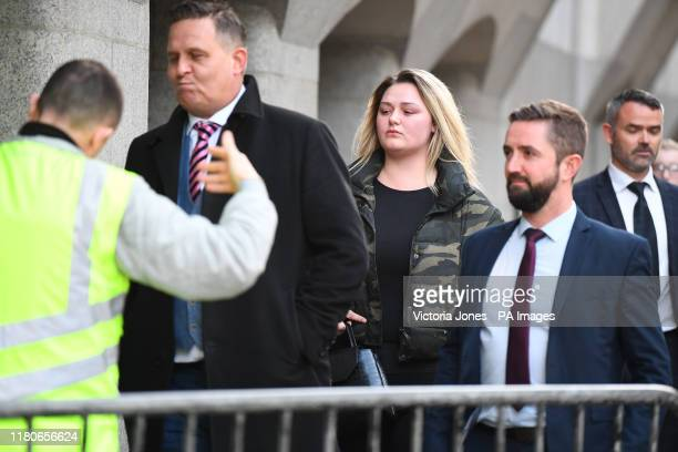 The family of Jodie Chesney uncle Terry Chesney and sister Lucy Chesney outside the Old Bailey in London after Svenson OngaKwie and a 17yearold boy...