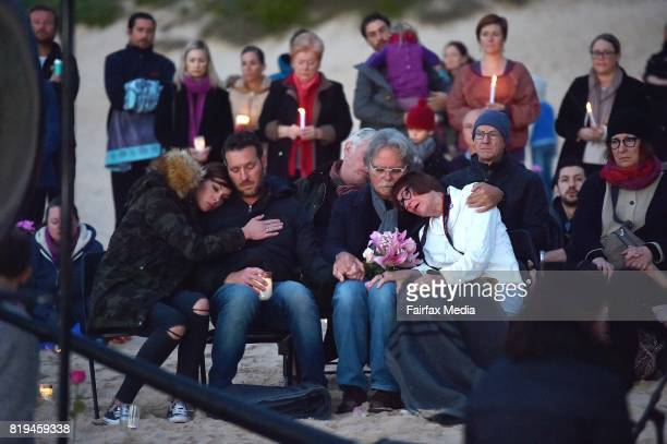 The family of Justine Damond her sisterinlaw Katarina Ruszczyk brother Jason Ruszczyk and parents John Ruszczyk and Maryan Heffernan are seen during...