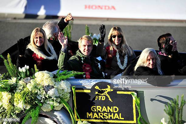 The family of Louis Zamperini rides in the Grand Marshal convertible to posthumously honor the late 2015 Tournament of Roses Parade Grand Marshal on...