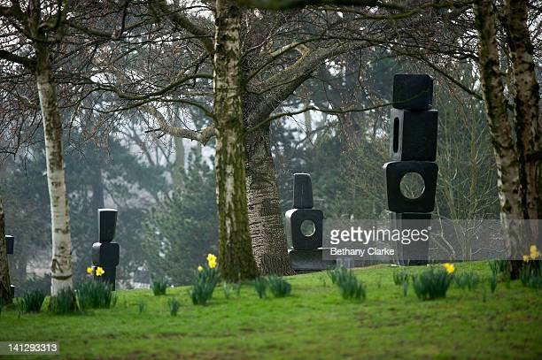 The Family Of Man by Barbara Hepworth at Yorkshire Sculpture park on March 14 2012 in Wakefield England