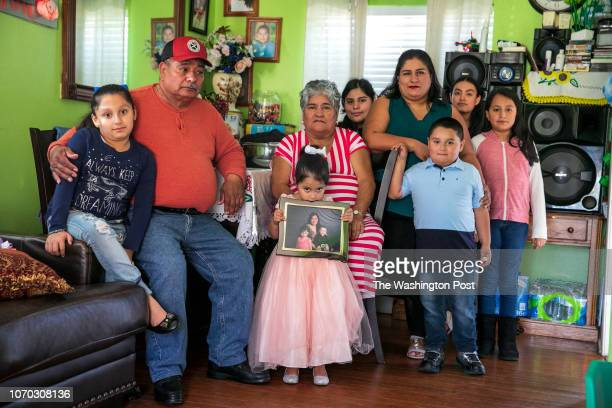 The family of Minerva Cisneros Her daughter Haidy 7 father Gonzalo 67 daughter Alyson 4 mother Maria 63 niece Samantha 15 sister Aida 37 son Alex...