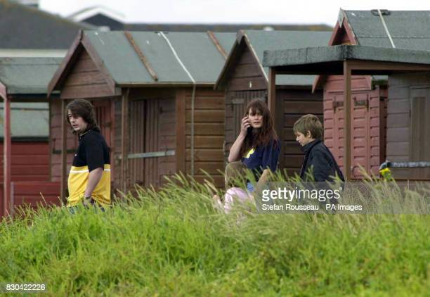 The family of missing eightyearold Sarah Payne on Littlehampton beach in West Sussex after making an appeal for Sarah's return