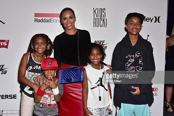 The family of MLB pitcher CC Sabathia daughter Jaeden Sabathia son Carter Sabathia wife Amber Sabathia daughter Cyia Sabathia and son Carsten Charles...