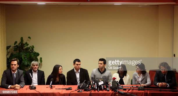 The family of murdered student Meredith Kercher John Kercher Stephanie Kercher John Kercher Lyle Kercher and Arline Kercher with Susanna Perna and...
