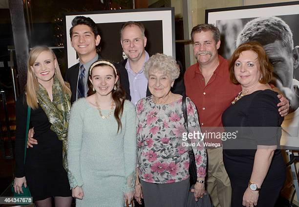 The family of photographer John Hamilton attend the opening exhibit for Hollywood Cool The John Hamilton Archives at the Morrison Hotel Gallery on...