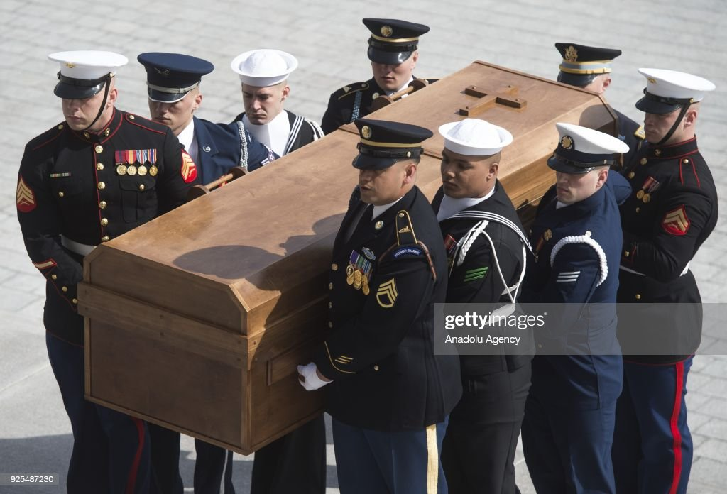 Rev. Billy Graham Laying-in Honor at U.S. Capitol : News Photo