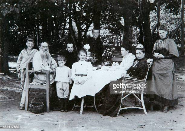 The family of Russian author Leo Tolstoy, late 19th or early 20th century. Tolstoy is widely regarded as one of the greatest of all novelists,...