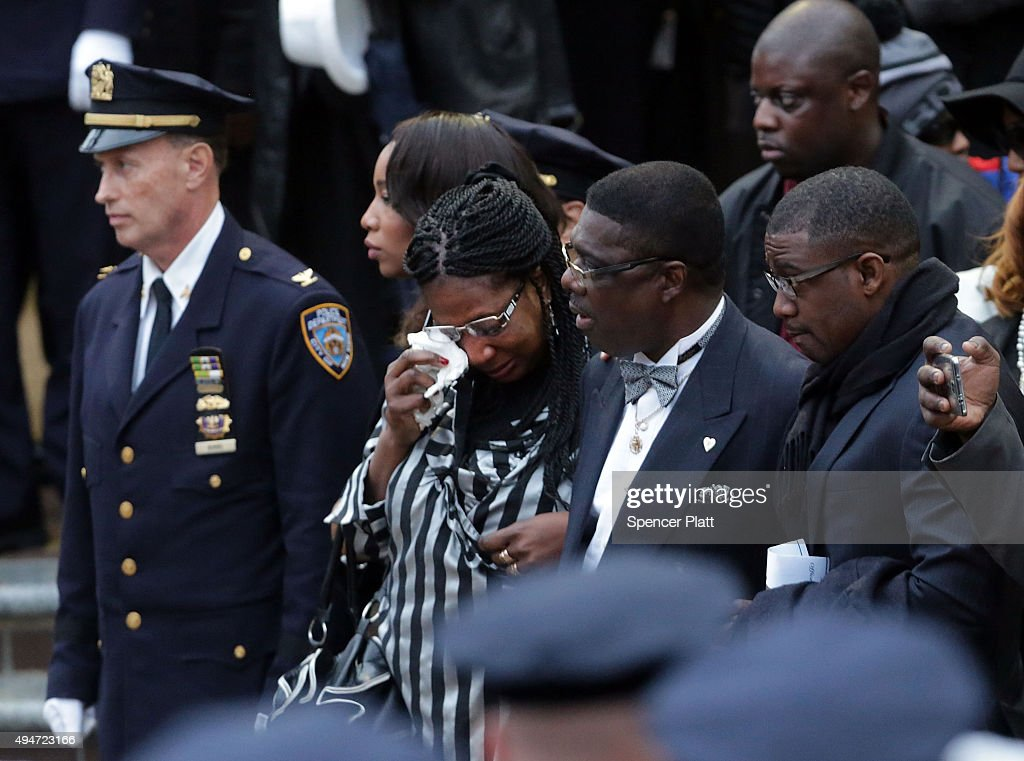 The family of slain NYPD Officer Randolph Holder grieves as