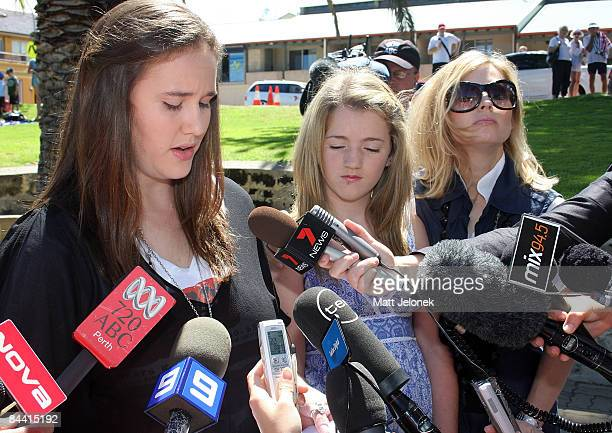 The Family of the late actor Heath Ledger Ashleigh Bell Olivia Ledger and Kate Ledger hold a press conference to mark one year since the actor's...