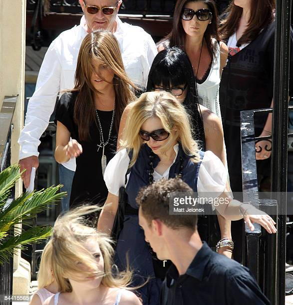 The family of the late actor Heath Ledger leave the press conference held to mark one year since the actor's death at Cottesloe Beach on January 23...