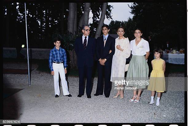 The family of the Shah of Iran gather at the Imperial palace for the birthday of the Shah's son