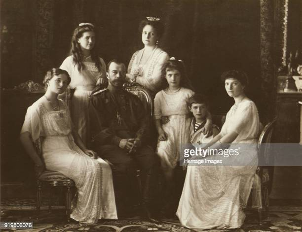 The Family of Tsar Nicholas II of Russia 1914 Found in the collection of State Archive of the Russian Federation