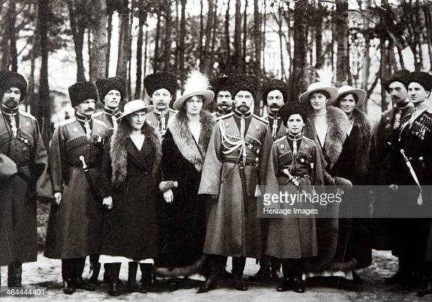The Family of Tsar Nicholas II of Russia with the Kuban Cossacks