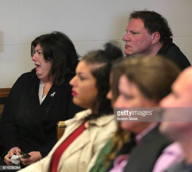 The family of Vanessa MacCormack including her parents left and right rear react as facts are being read by Assistant District Attorney Ian Polumbaum...