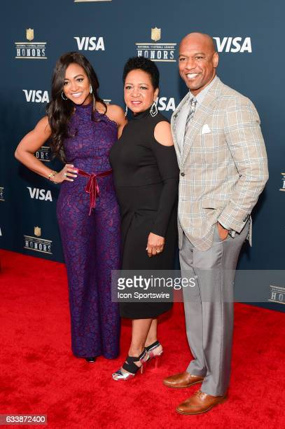 The family of Walter Payton pauses for photos during the NFL Honors Red Carpet on February 4 2017 at the Worthan Theater Center Houston Texas