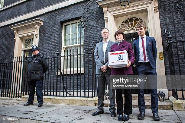 The family of WWII codebreaker Alan Turing deliver Changeorg petition to 10 Downing Street signed by almost half a million people calling for a...