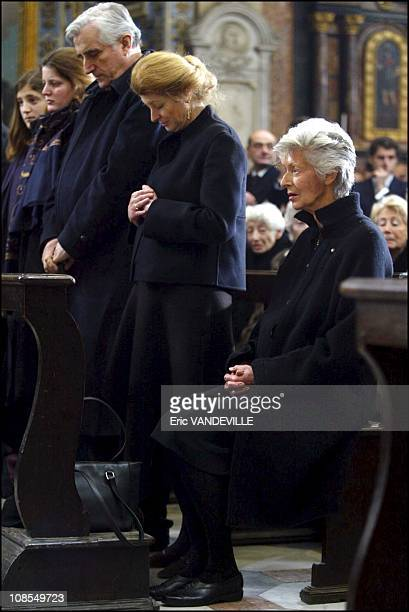 The family: Serge de Palhen, Margherita and Marella Agnelli in Turin, Italy on January 26th, 2003.
