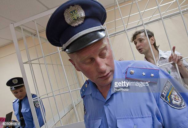 The famous accordionist Igor Zawadski after the verdict in the Podol court of Kyiv. He was sentenced to 13 years in prison for perversion of minors....