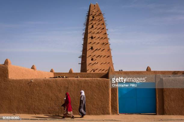 Agadez Mosque is a prominent mosque in Agadez, Niger. Made of clay, it was originally built in 1515 and restored in 1844. Niger.