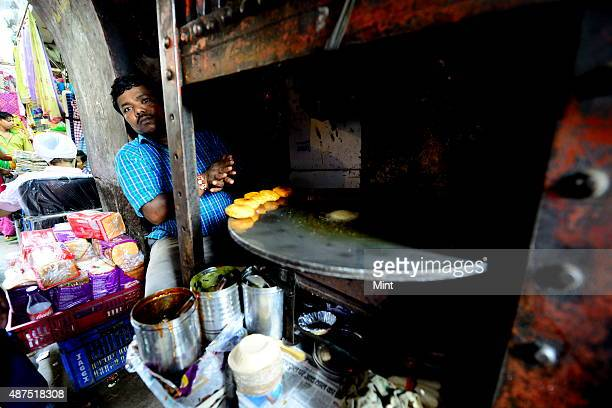 The famous aloo tikki shop at Katra Neel in Chandni Chowk on August 20 2014 in New Delhi India Chandni Chowk often called the food capital of India...