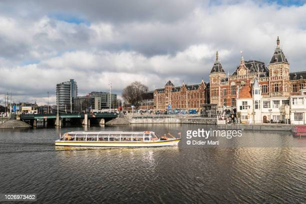 The famous Amsterdam Centraal train station in Amsterdam