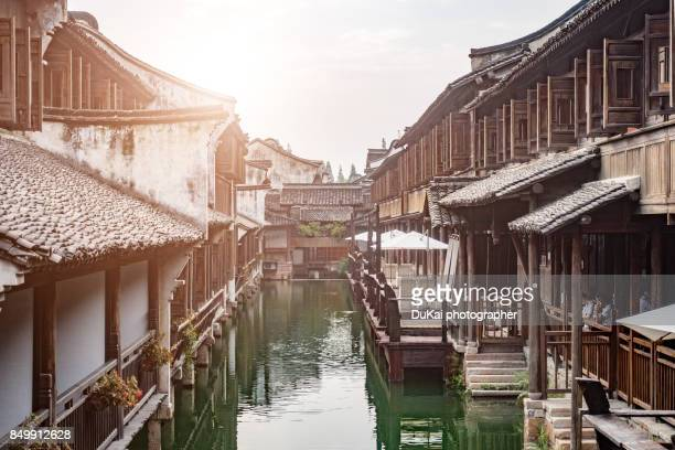 the famous ancient town of china ~ wuzhen - suzhou stock pictures, royalty-free photos & images