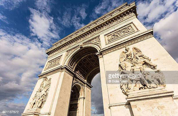 The famous Arc de Triomphe at the top of the Champ Elysees in Paris