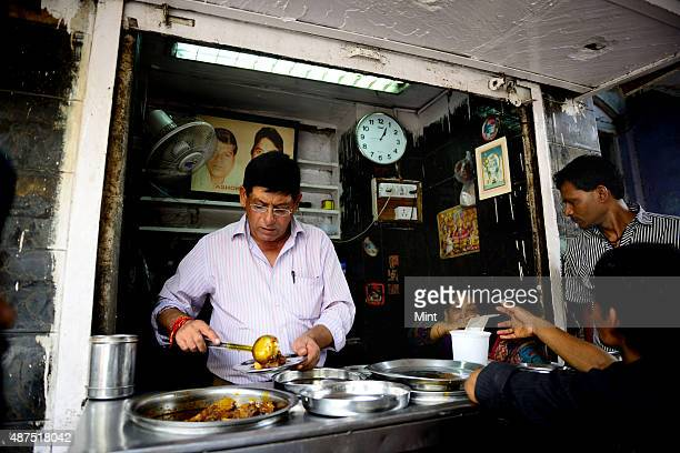 The famous Ashok Ashok Meat Dhaba shop in Chandni Chowk on August 20 2014 in New Delhi India Chandni Chowk often called the food capital of India is...