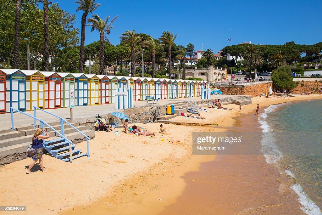 The famous Banys de S'Agarò on the S'Agarò beach : Stock Photo