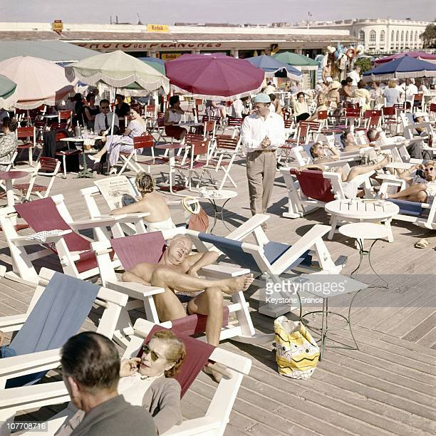 The Famous Beach Resort Of Deauville In 1961