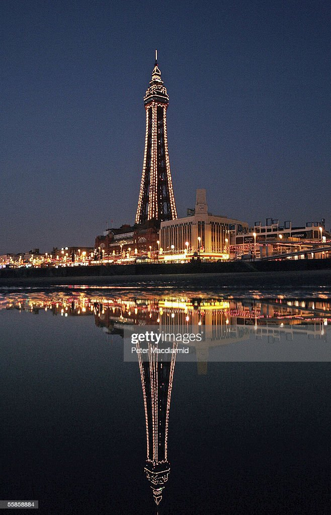 The famous Blackpool tower is seen in the traditional holiday destination Blackpool at night on October 5, 2005 in Lancashire, England. Blackpool is one of Europe's top seaside resorts with over 16.5 million visitors per year. Famouse globally for its traditional values and piers, and a host of new attractions.