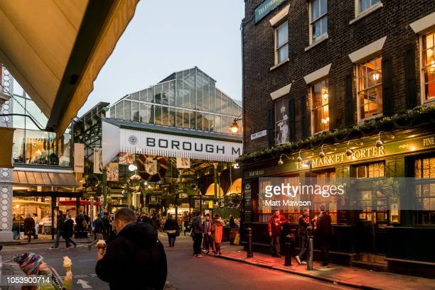 the famous borough market south of the river thames in south east london england uk - borough market stock pictures, royalty-free photos & images